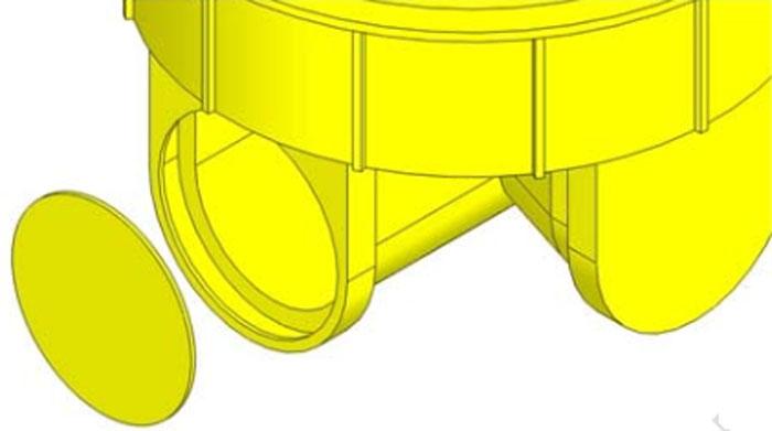 اتصال لوله های تک جداره به منهول پلی اتیلن